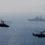 Українські винищувачі МіГ-29 та штурмовики Су-25  прикривають з повітря кораблі ВМС ЗСУ